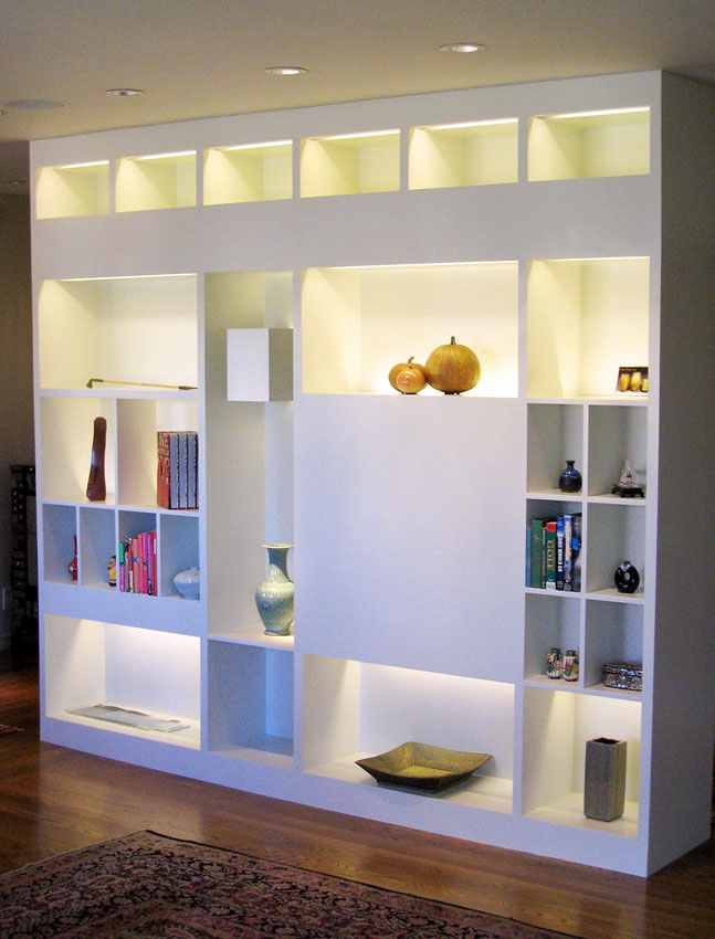 Mill Valley Architectural woodwork and bookshelves by Kleid Design Group